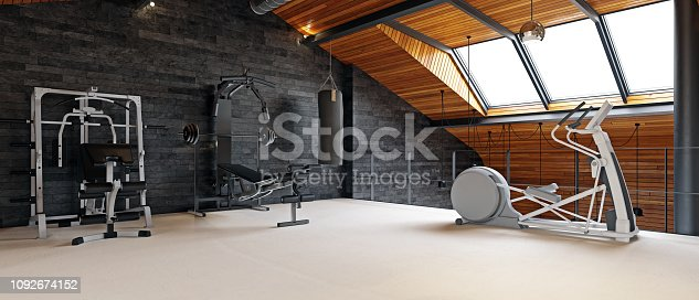istock home gym room in the attic 1092674152