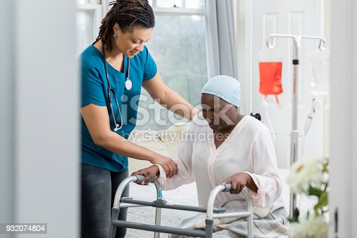 958891774istockphoto Home healthcare provider helps a senior woman 932074804