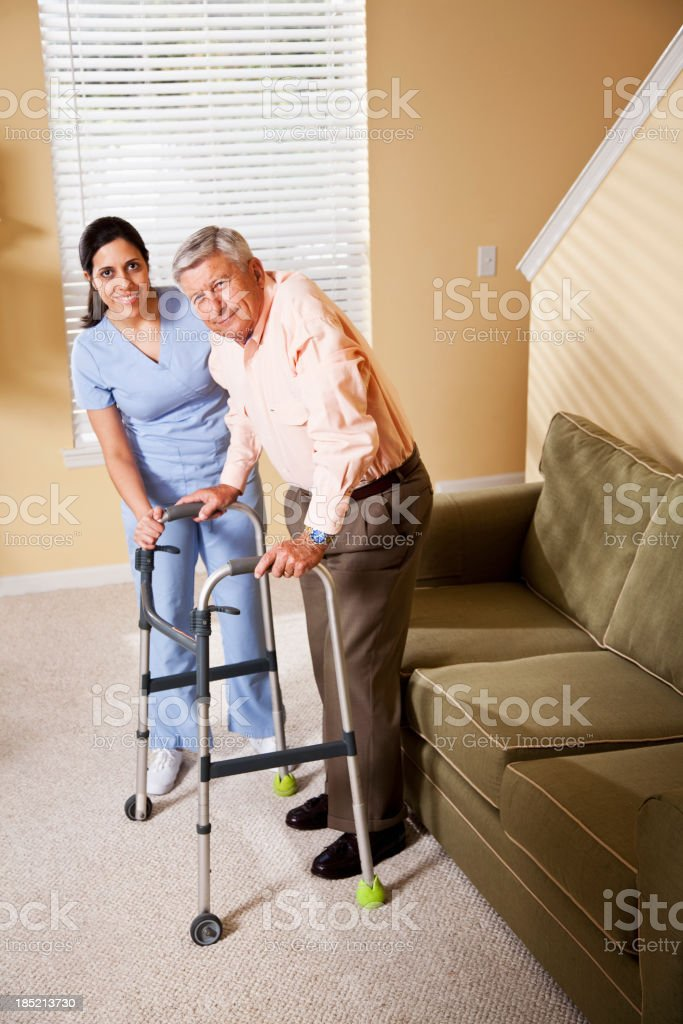 Home healthcare worker with senior patient royalty-free stock photo