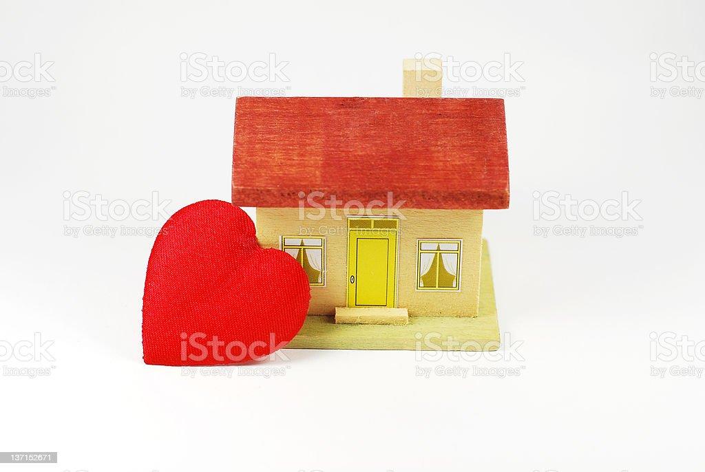 Home Heart stock photo
