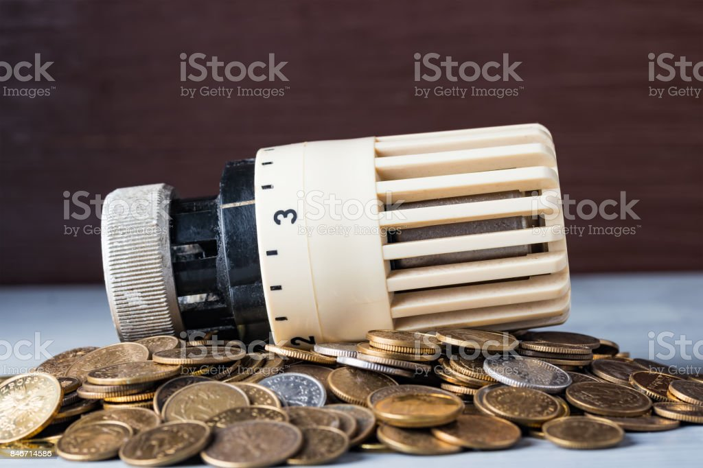 Home heat savings or expenses concept. stock photo
