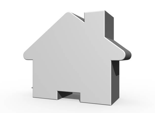 3D Home icon stock photo