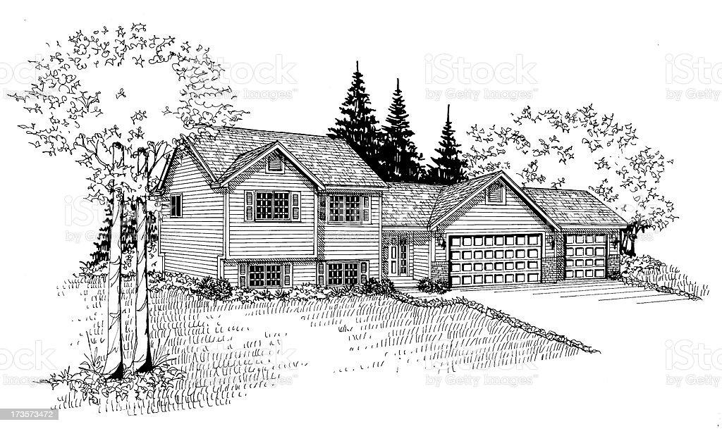 Home Illustration. royalty-free stock photo