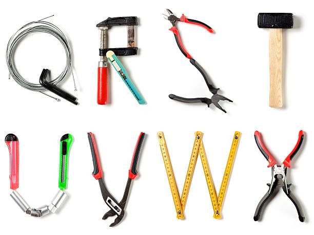 XXL Home Improvement Alphabet Q-R-S-T-U-V-W-X alphabet letters. letter w stock pictures, royalty-free photos & images