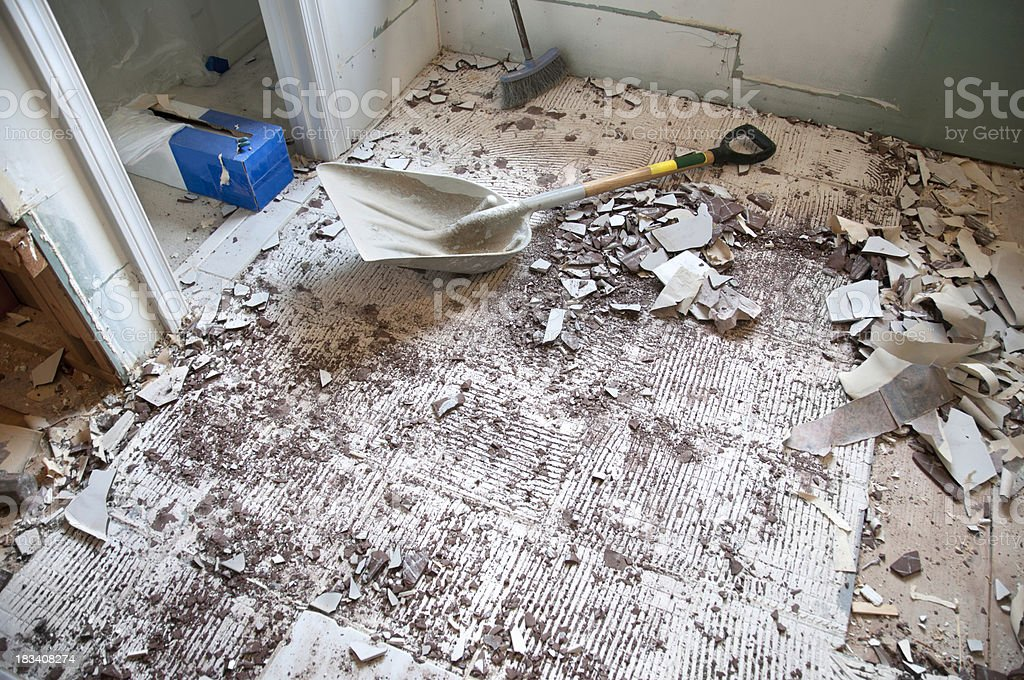 Home Improvement and Remodeling: Demolition Phase royalty-free stock photo