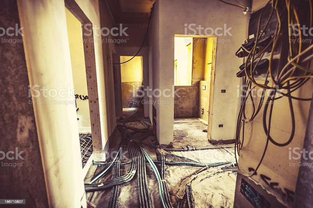 Home Improvement in Old Italian Apartment royalty-free stock photo