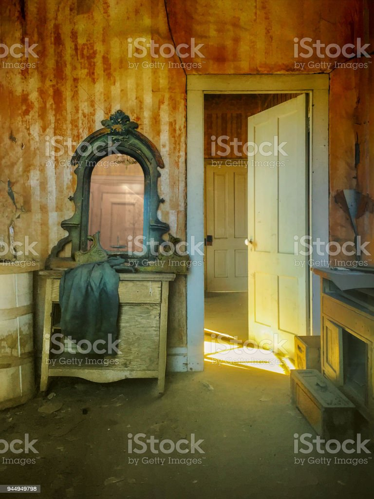 Home improvement. Interior in need of repair and renovation stock photo