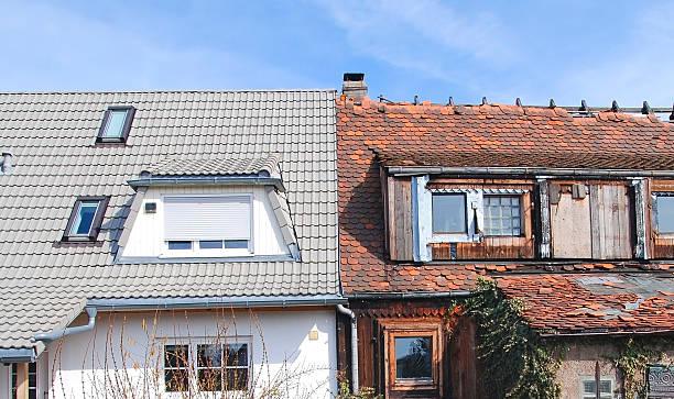 home improvement - modernisierung vorher nachher - slechte staat stockfoto's en -beelden