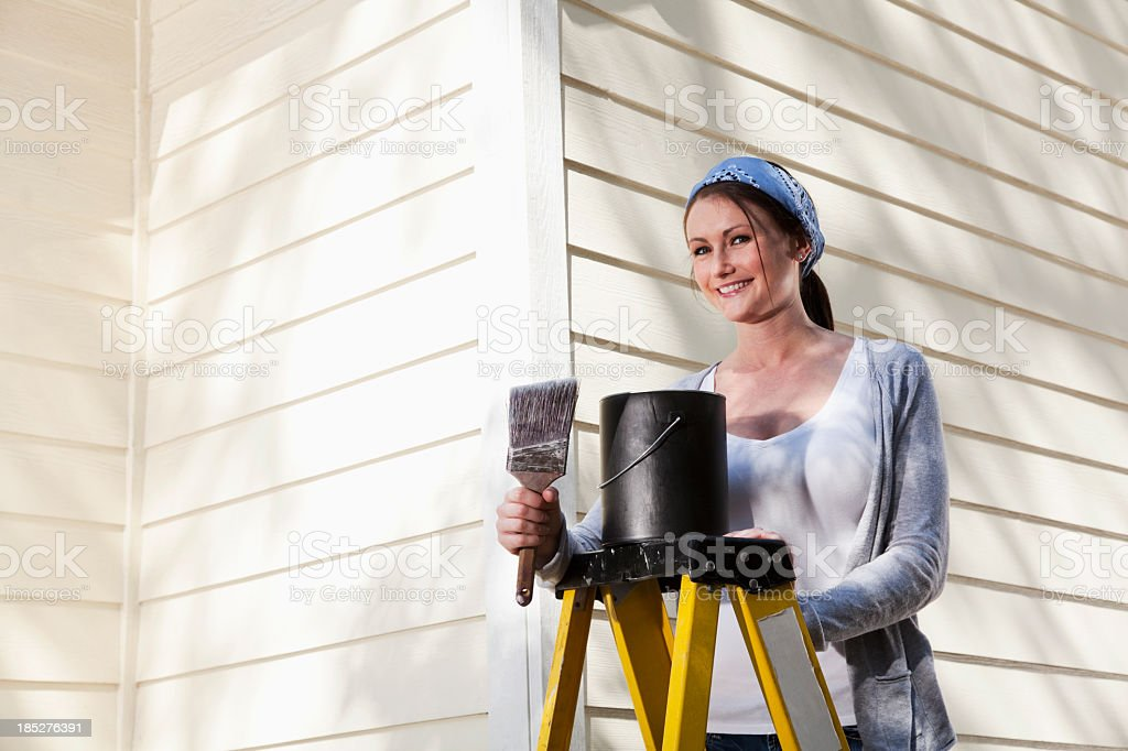 Home improvement - painting house stock photo
