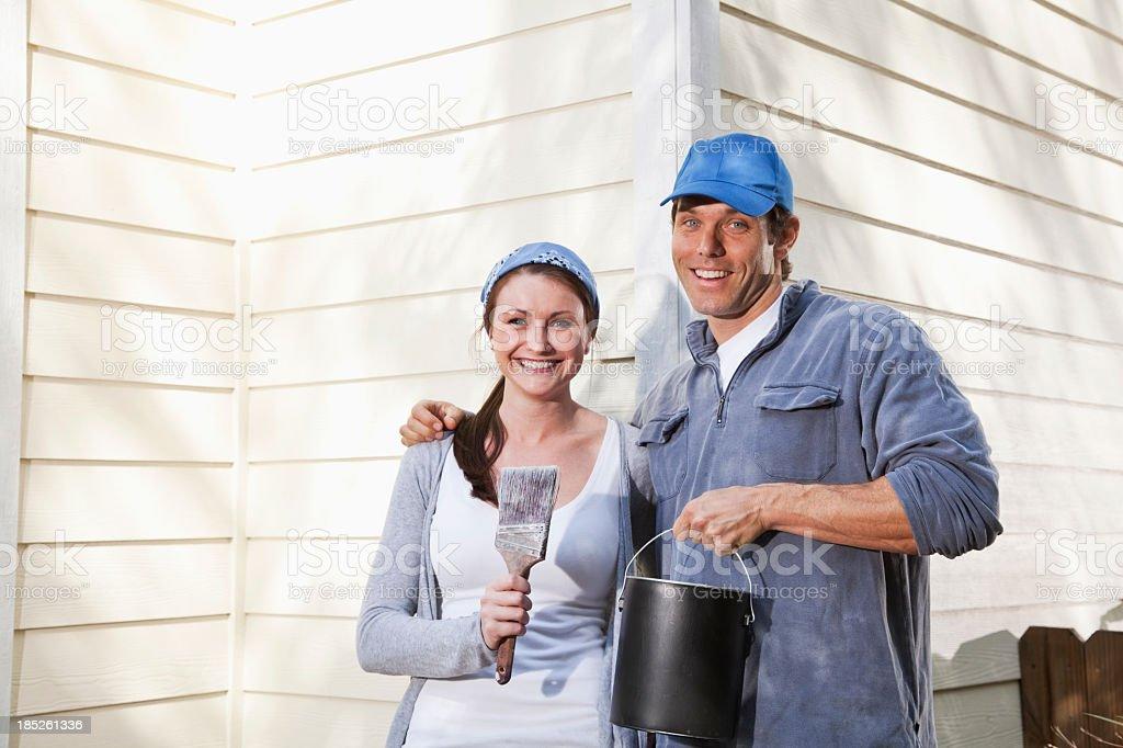 Home improvement - painting stock photo