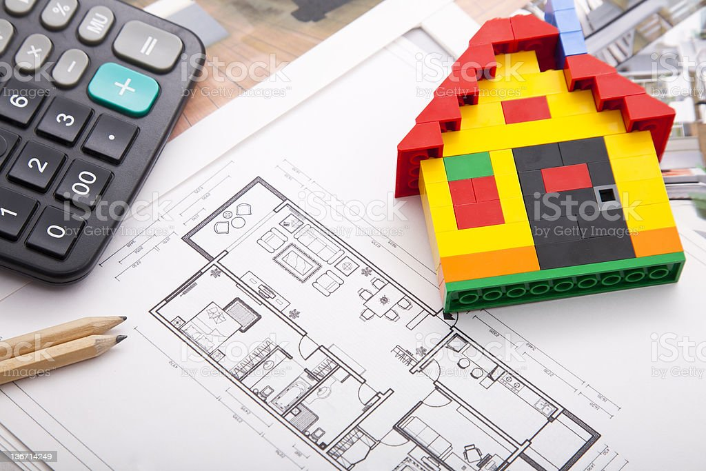 Home Improvement plan royalty-free stock photo