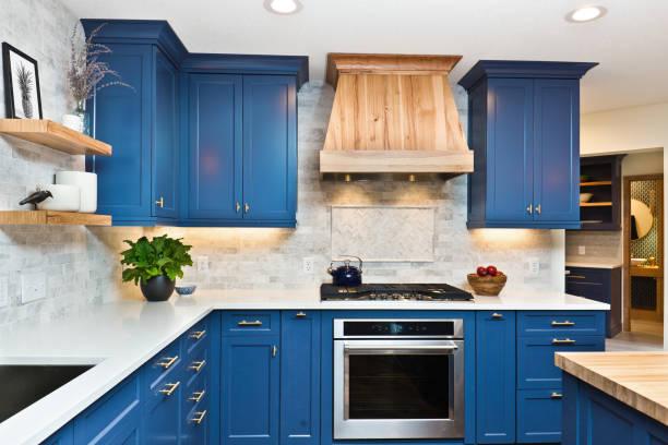 home improvement przebudowany nowoczesny projekt kuchni - kuchnia zdjęcia i obrazy z banku zdjęć