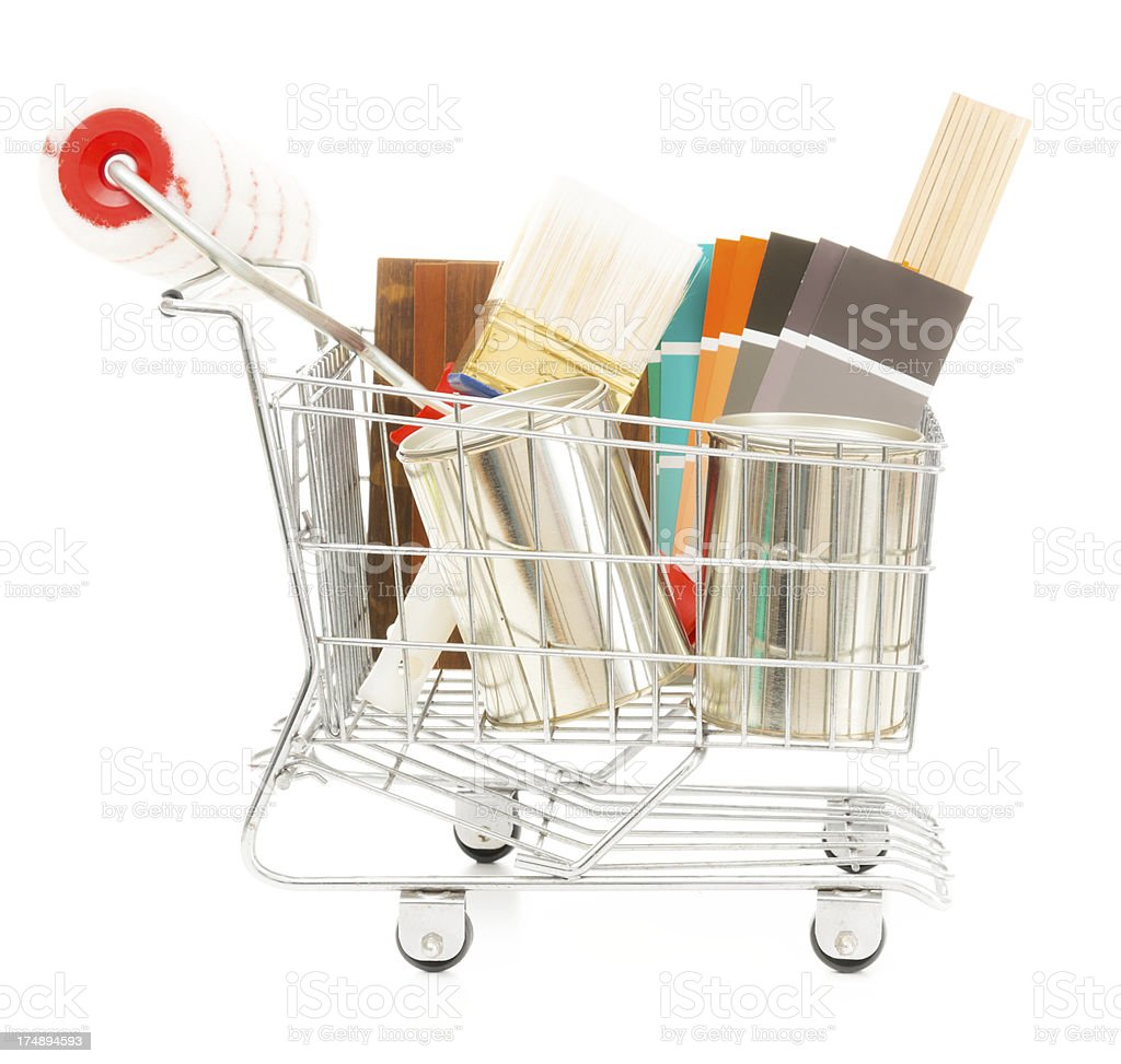 home improvement shopping royalty-free stock photo