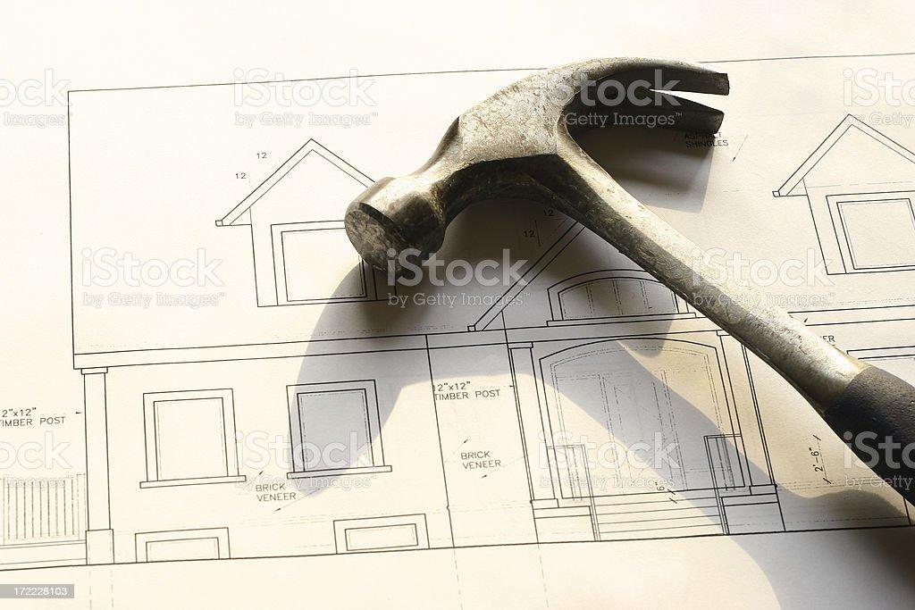 Home Improvements - Hammer royalty-free stock photo