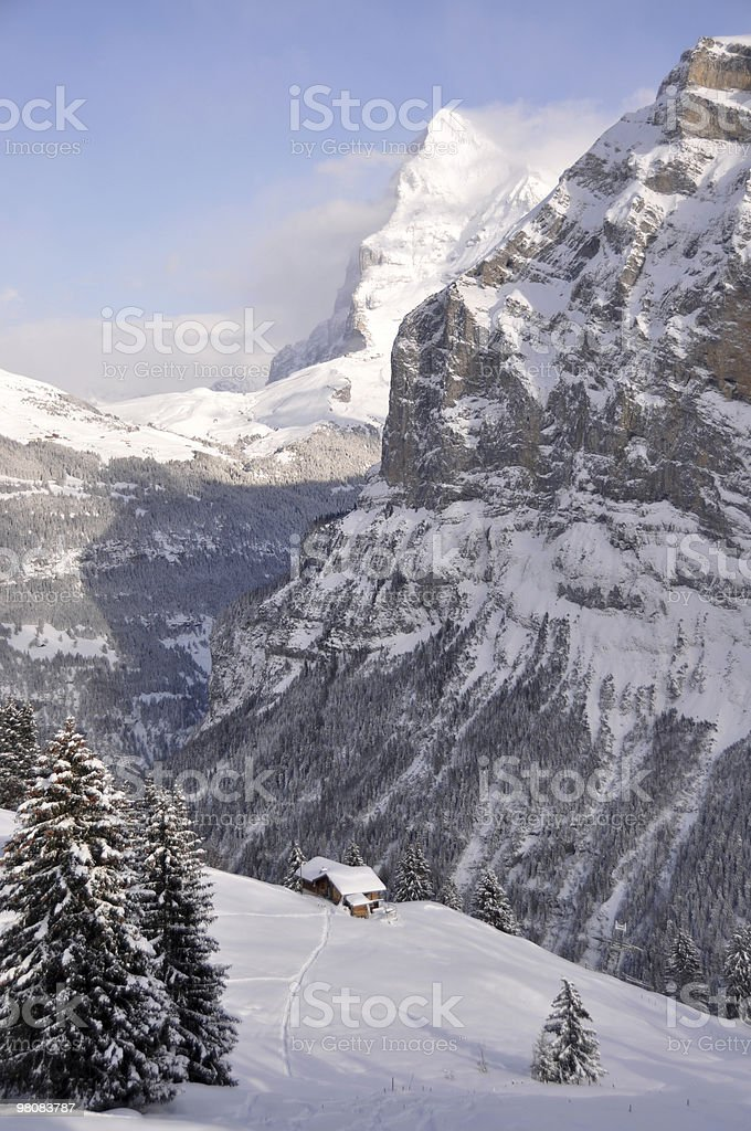 Home in Alps royalty-free stock photo