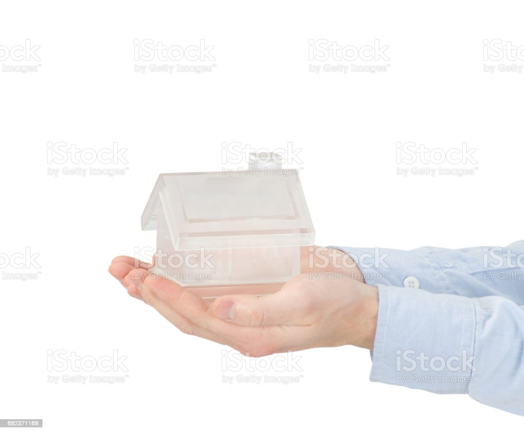 home in hands zbiór zdjęć royalty-free