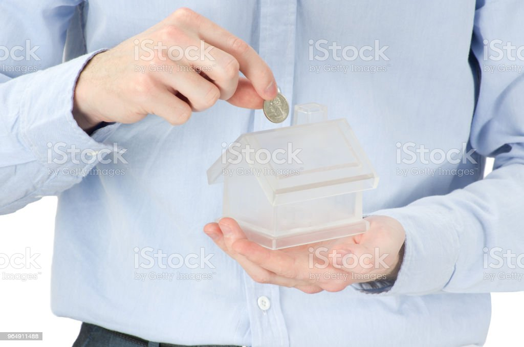 home in hands royalty-free stock photo