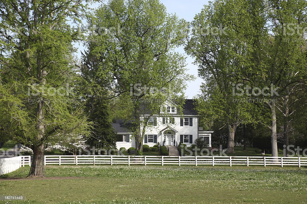 Home in Kentucky Home and Horse Farm in Lexington KentuckyPlease CLICK on Lightbox Button Below to see more  images of HOMES OLD AND NEW Agriculture Stock Photo