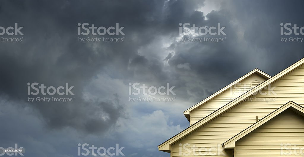 home in stormy day royalty-free stock photo
