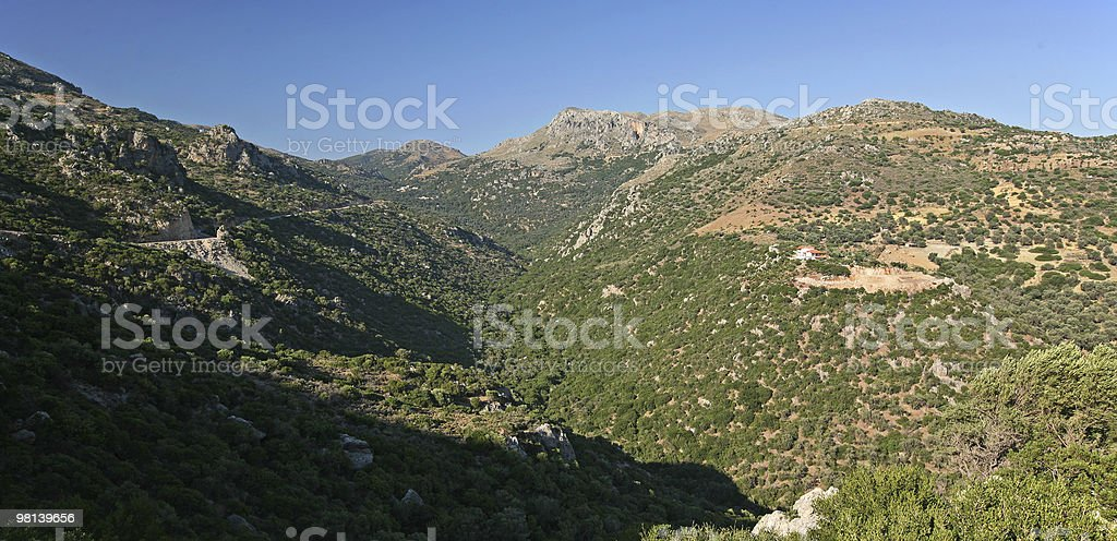 home in the mountain royalty-free stock photo