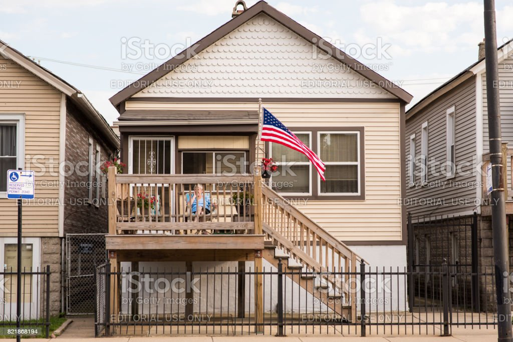 Home in West Town, Chicago stock photo