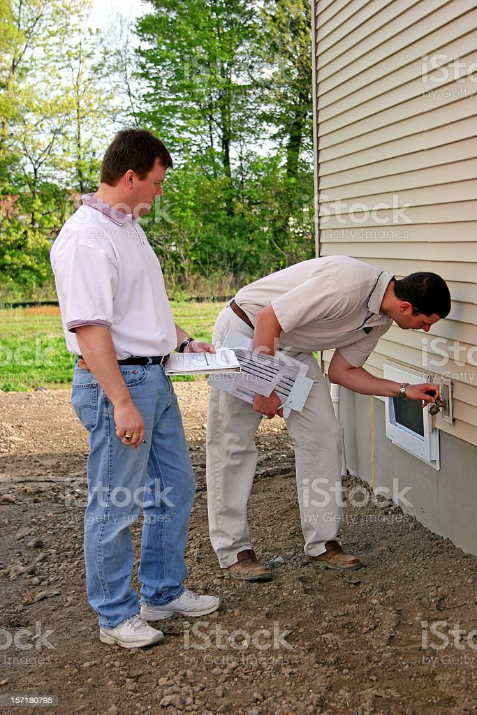 Home Inspection 1 Vertical royalty-free stock photo