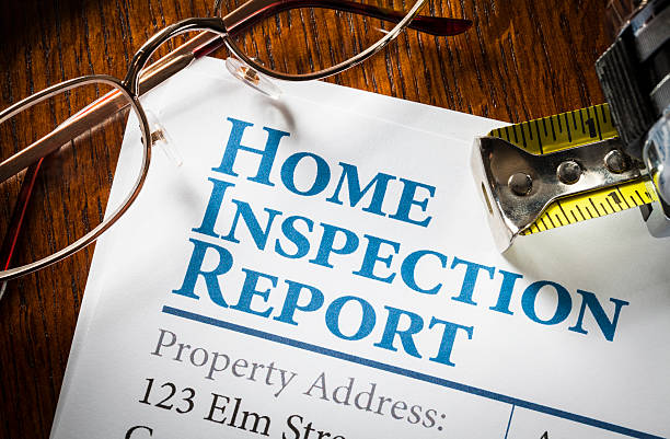 home inspection report - examining stock photos and pictures