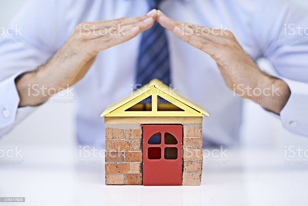 Home insurance - better safe than sorry... stock photo