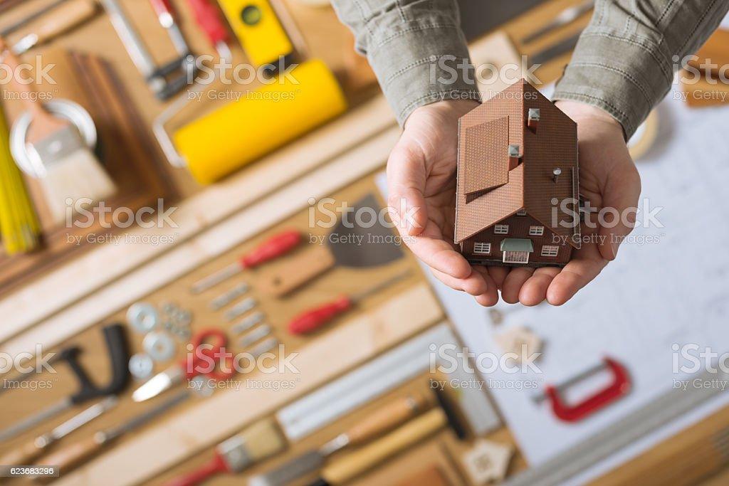 Home insurance concept stock photo