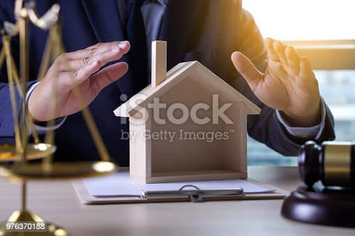 182148217istockphoto home insurance, Law and justice concept 976370188