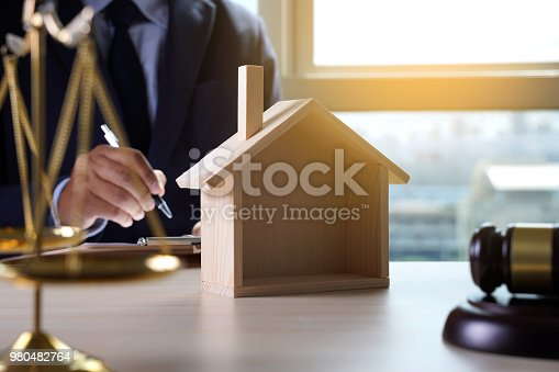 182148217istockphoto home insurance, Law and justice concept 980482764
