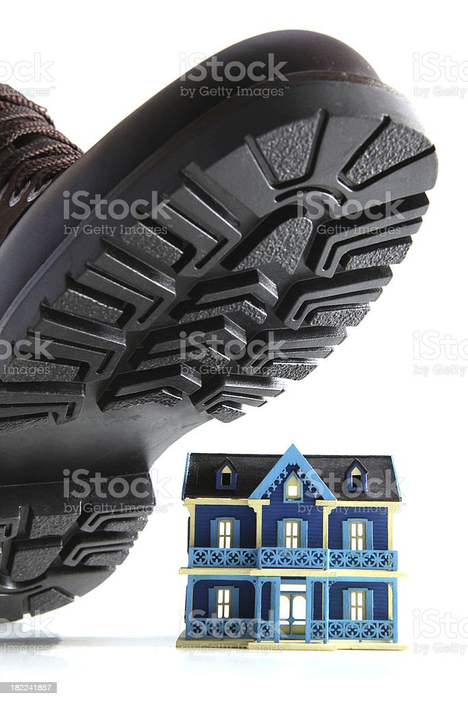 home insurance or mortgage burden royalty-free stock photo