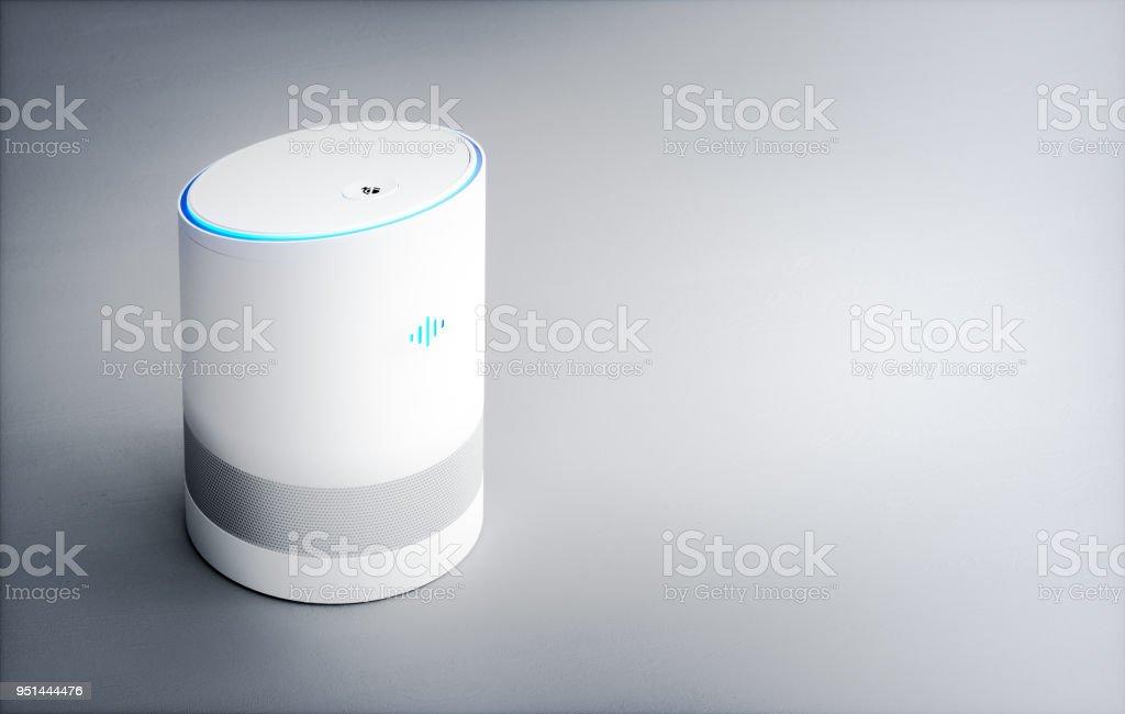 Home intelligente sprachaktivierte Assistent. 3D-Rendering Konzept von hi Tech futuristische künstliche Intelligenz Spracherkennungstechnologie. – Foto