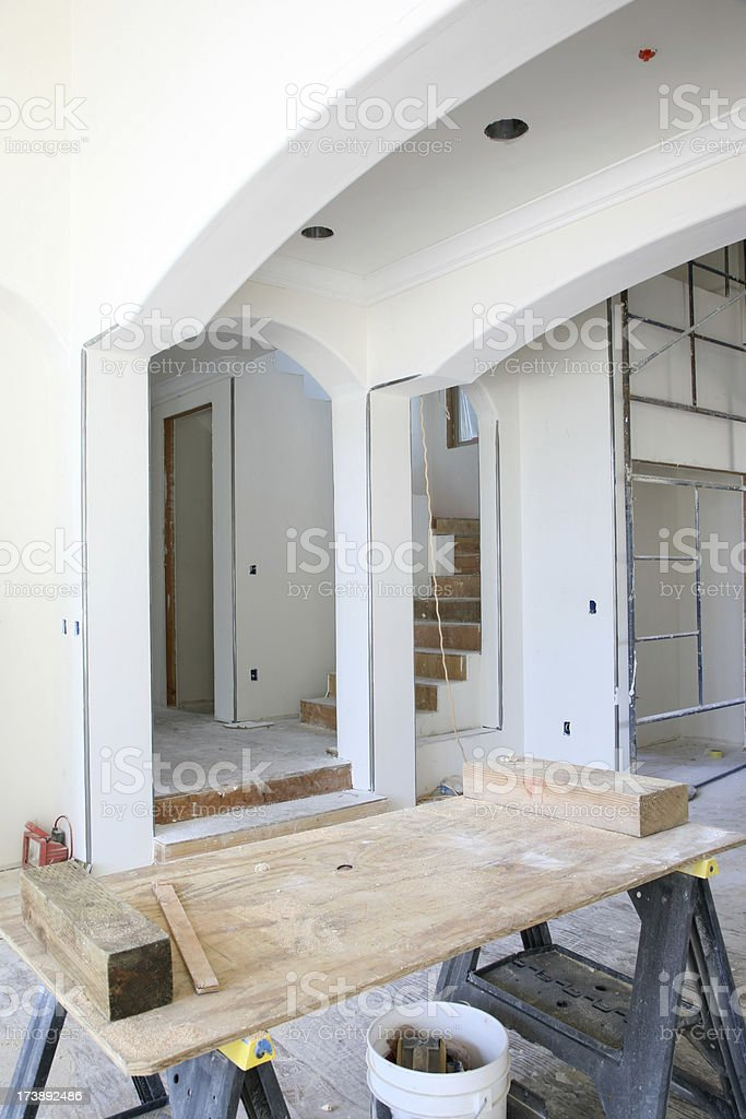 Home Interior Construction royalty-free stock photo