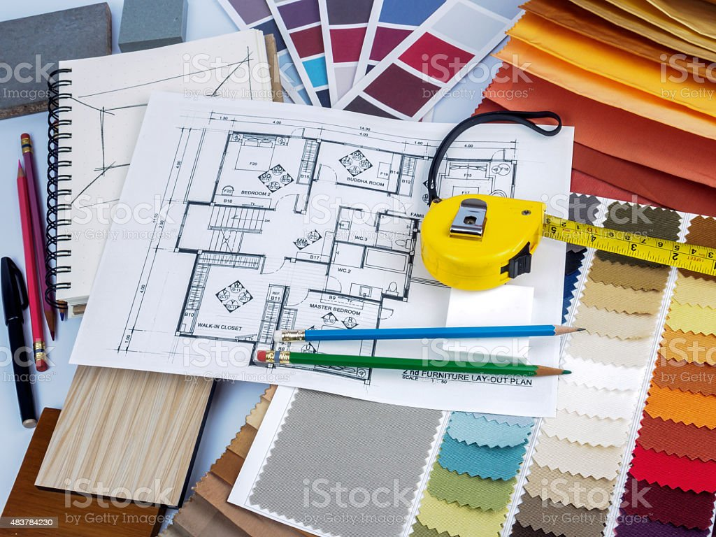 ... Home Interior Decoration And Renovation Planning Concept Stock Photo ...