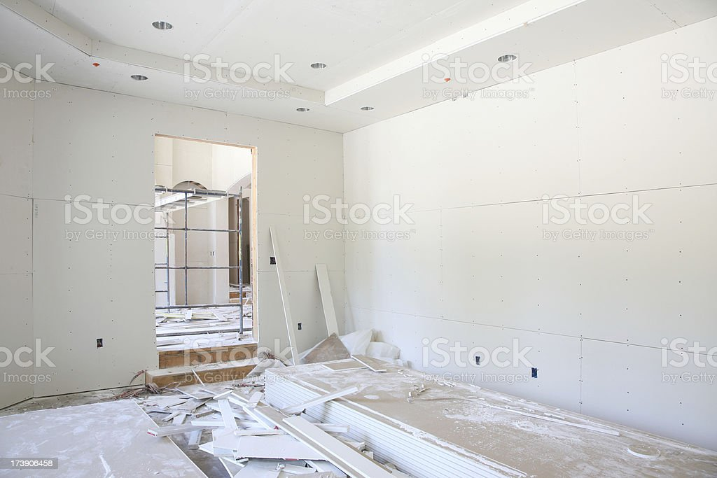 Home Interior Drywall Construction royalty-free stock photo