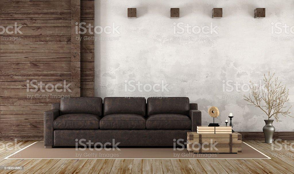 Interno di casa in stile rustico fotografie stock e for Piani di casa in stile rustico