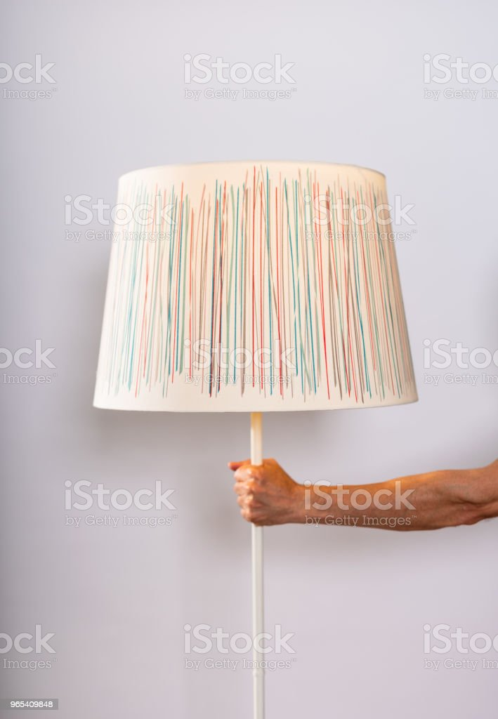 home interior lighting lampshade zbiór zdjęć royalty-free