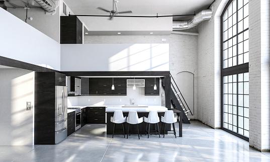 Home  interior loft apartment