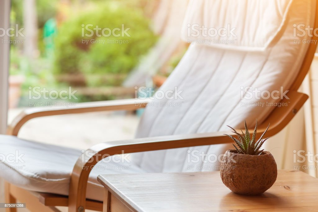 Home Interior Of Living Room Comfortable Chair Stock Photo ...