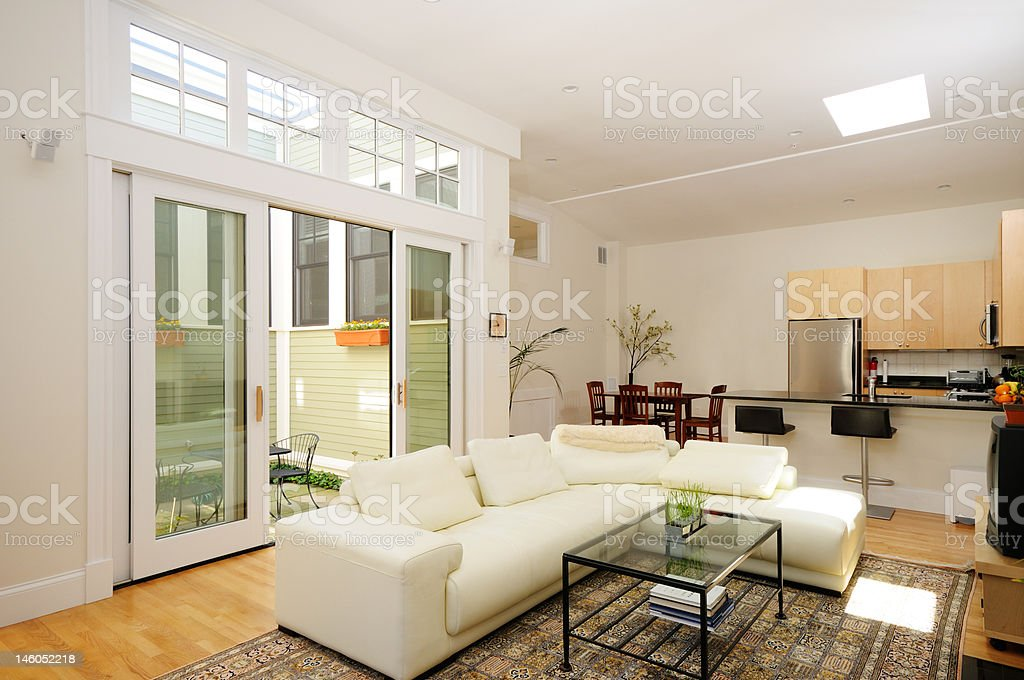 Home interior of open plan apartment royalty-free stock photo
