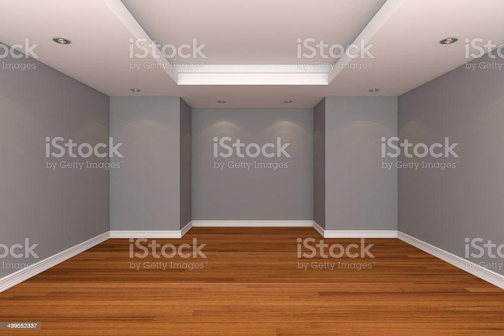 Interni Casa Grigio : Interno di casa vuota rendering con camera decora il colore grigio