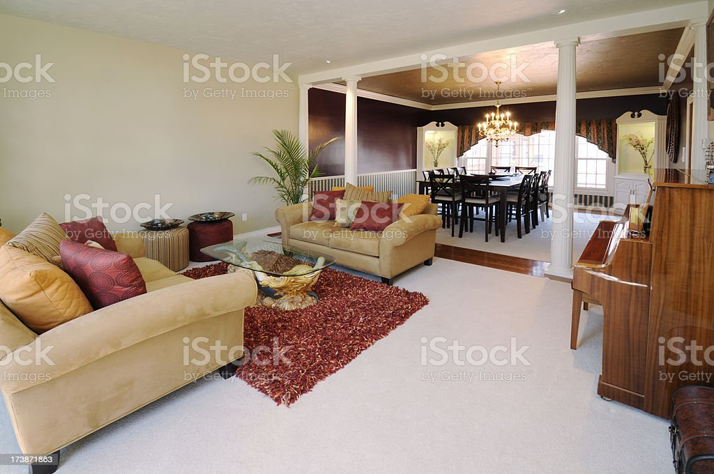 Home Interior With Adjoining Rooms royalty-free stock photo