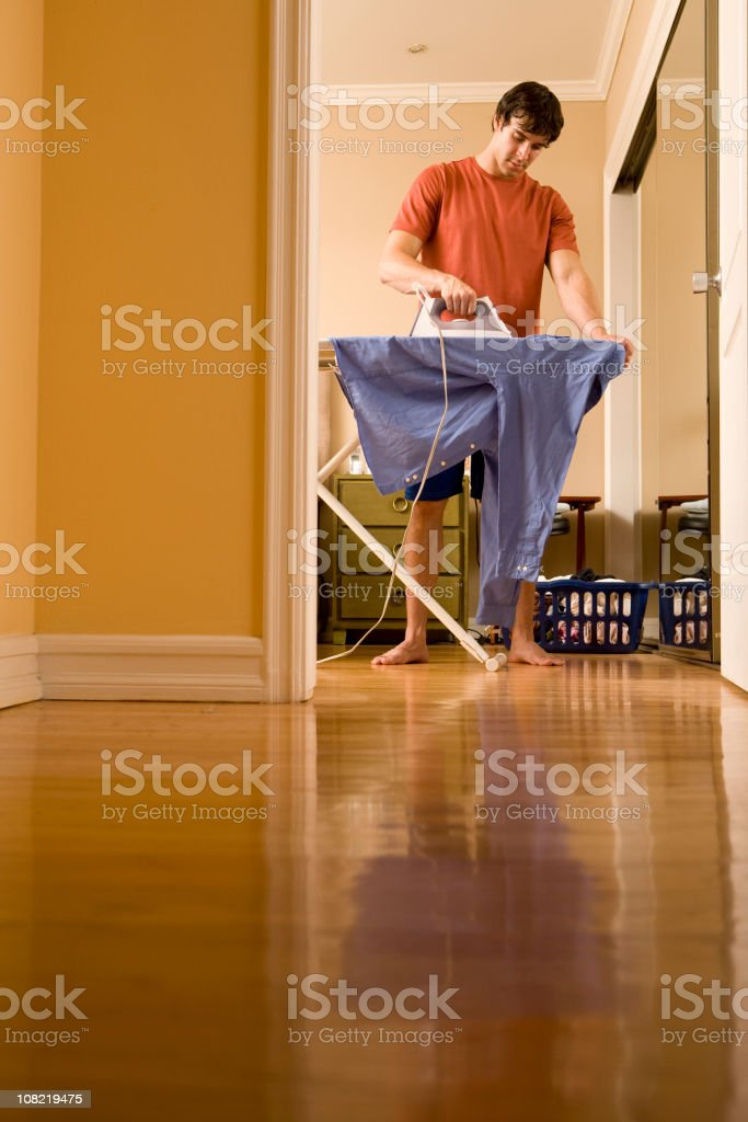 Home Ironing royalty-free stock photo