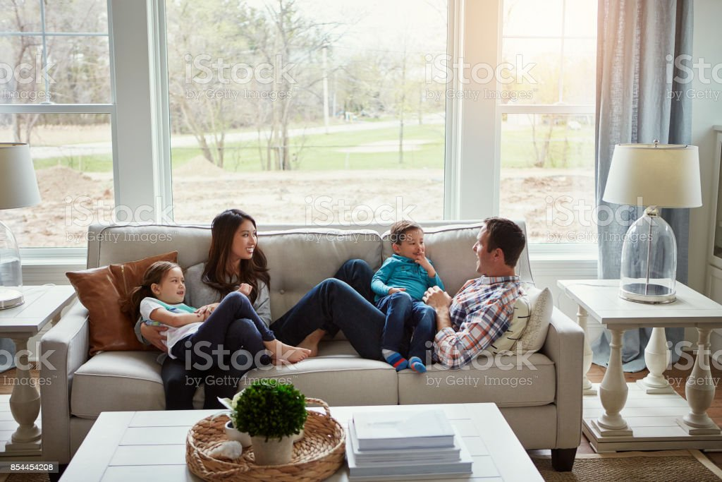 Home is where love lives stock photo