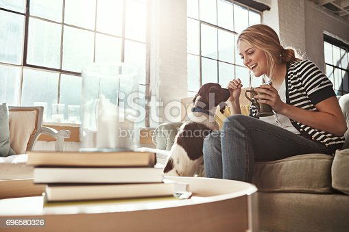 istock Home is where the dog is 696580326