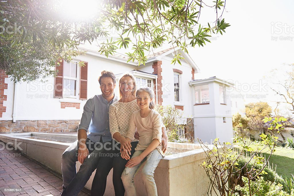 Home is where the family is stock photo