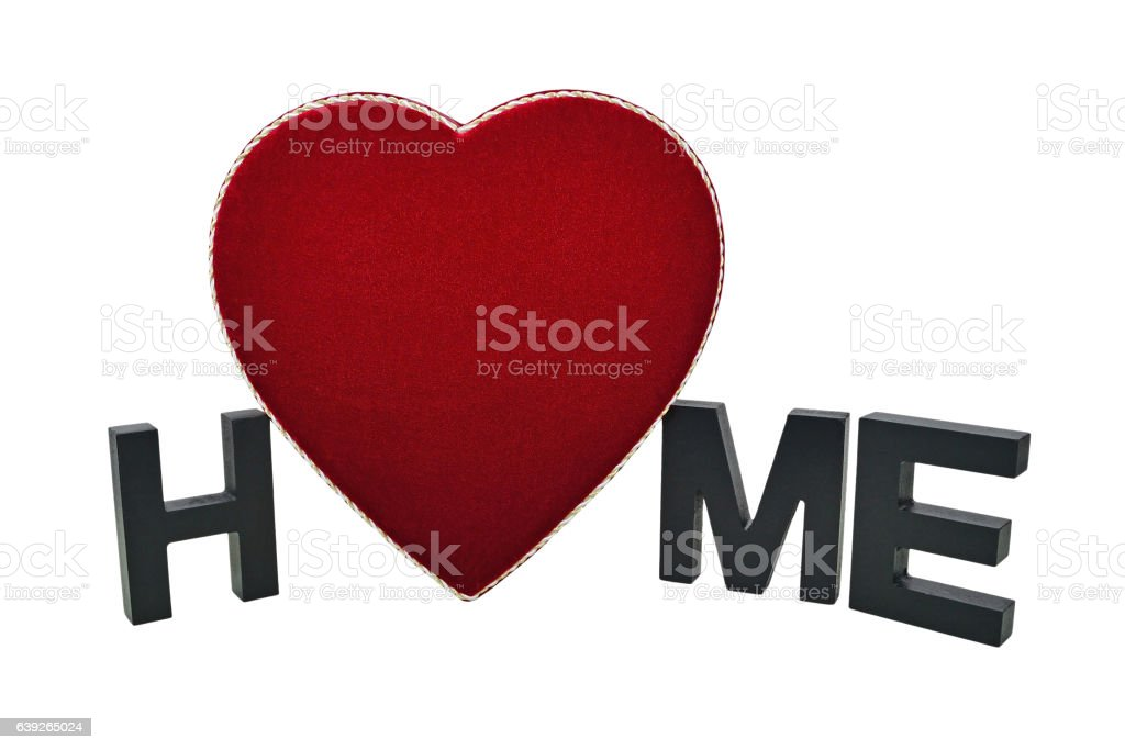 Home Is Where The Heart Is stock photo