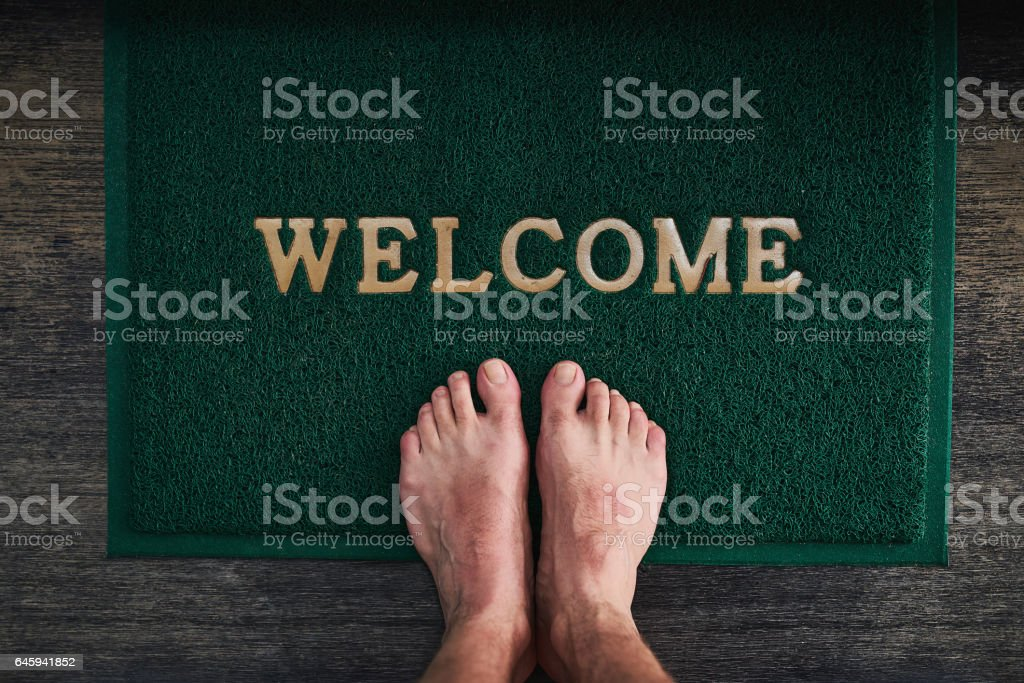 Home is where you can kick off your shoes stock photo