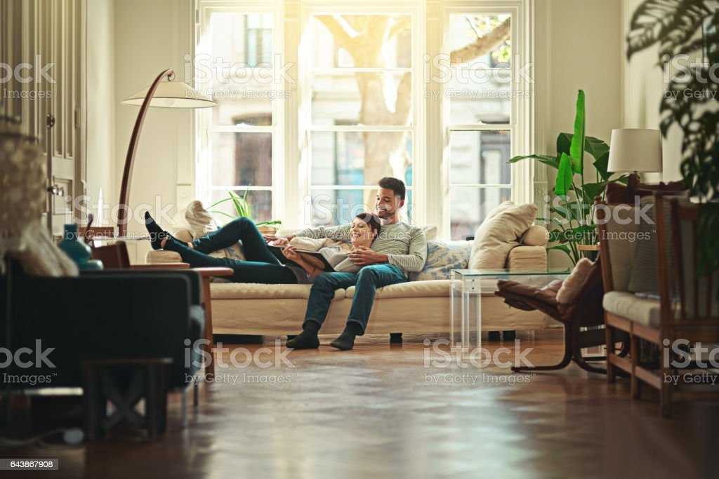 Home is where you're most comfortable stock photo